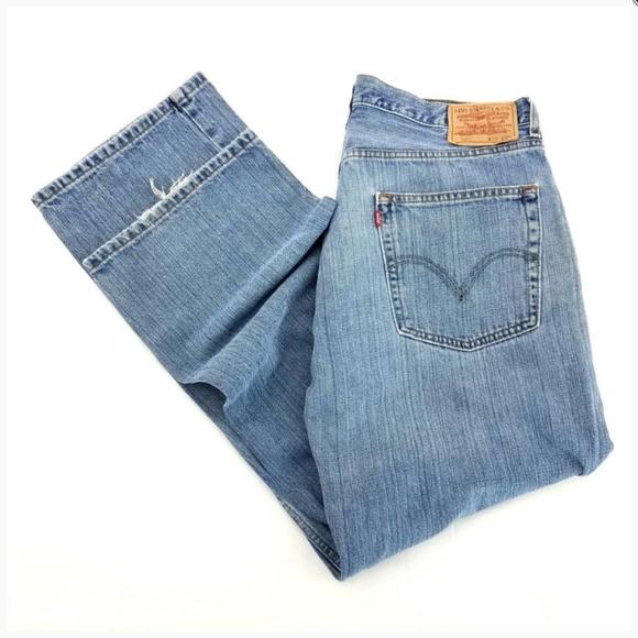 36a9ab50 Levi's Jeans | Levis 569 Loose Straight Blue Denim 5 Pocket Baggy ...